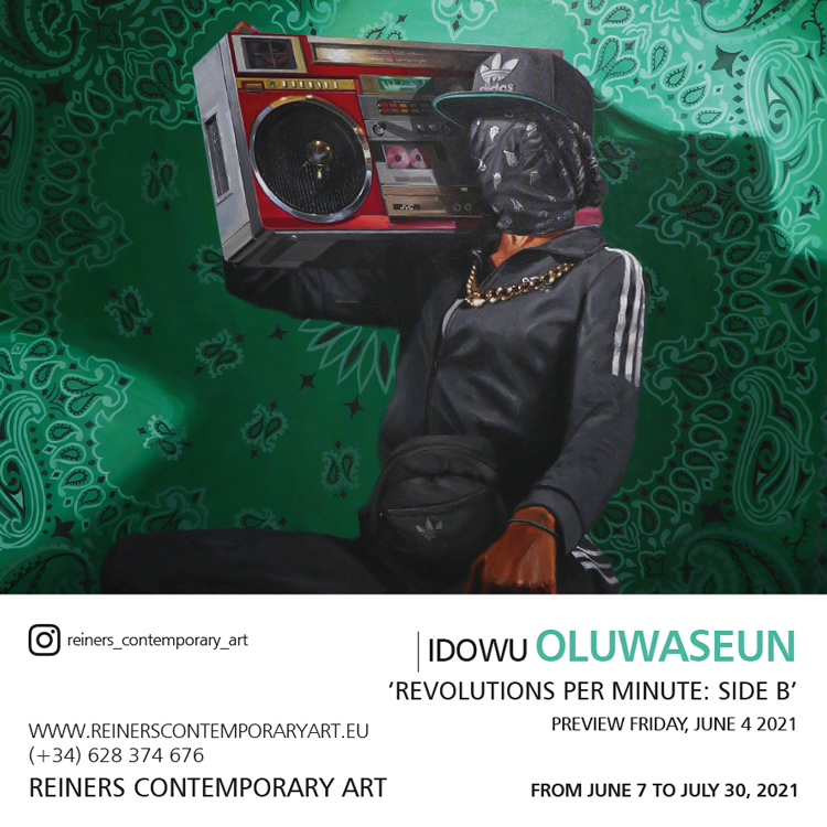 Visit the painting exhibition in Malaga of the artist Idowu Oluwaseun at Reiners Contemporary Art Gallery in Marbella