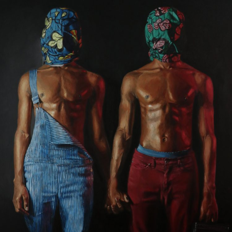 Idowu Oluwaseun painting exhibition in marbella at reiners art gallery